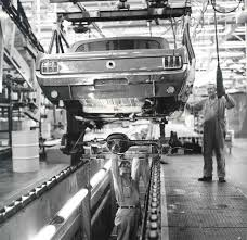 1964 ford mustang assembly line automotive design pinterest