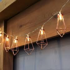 Bistro Lights Wholesale Battery Rose Gold Metal Lantern Fairy Lights 10 Warm White Leds