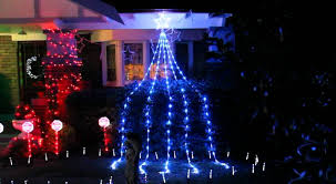 led waterfall 512 lights with 3lm blue and white