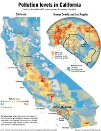 Clark County Zip Code Map by California Air Pollution Map California Map