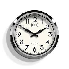 retro chrome kitchen wall clock newgate clocks electric
