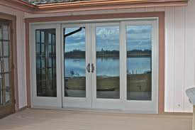 Front Doors With Glass Side Panels Modern Style Wave Type Sliding Glass Door With Frosted Side Panel