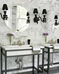 wallpaper bathroom ideas 71 cool black and white bathroom design ideas digsdigs