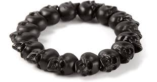 beaded black bracelet images Lyst alexander mcqueen skull bead bracelet in black jpeg
