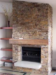 Floating Fireplace Mantels by Terrific Interior Stone Fireplace Designs With Stainless Steel