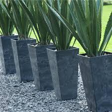70cm Vase Artstone Ivy Line Ella Tall Vase Planter The Farthing