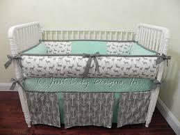 Custom Boy Crib Bedding Custom Baby Bedding Set Kees Mint Boy Baby By Babybedding On Zibbet
