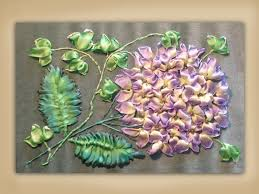 silk ribbon embroidery how to embroider a silk ribbon hydrangea and