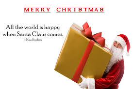 best quotes and sayings about santa claus happy