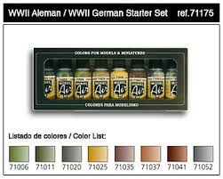 wwii german model air paint set 8 colors hobby and model paint