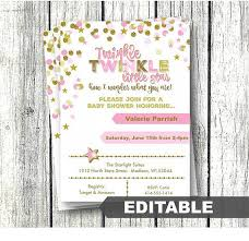 twinkle twinkle baby shower invitations baby shower invitation editable templates new twinkle twinkle