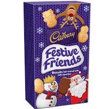 cadbury festive friends biscuits 150g cadbury gifts direct