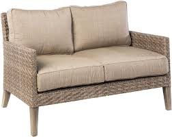 Wicker Settee Replacement Cushions by Alfresco Home Cornwall Woven Wicker Loveseat With Sunbrella Cast