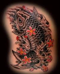 the legend of the koi fish only tattoos