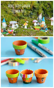 make mini fairy garden flower pots make and takes