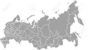 Russia Map Russia Map Outline Vector With Borders Of Provinces Or States