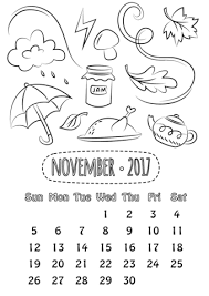 november 2017 calendar coloring free printable coloring pages