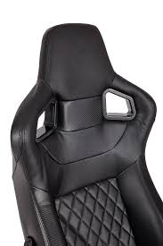 Leather Gaming Chairs Corsair T1 Race Gaming Chair U2014 Black Black