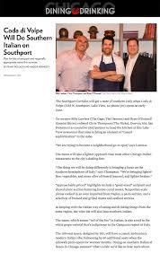 Kitchen In Italian Translation Coda Di Volpe Southport Chicago