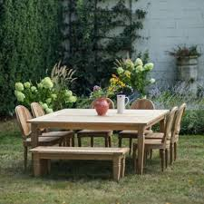 Outdoor Teak Furniture Terrain - Reclaimed teak dining table and chairs