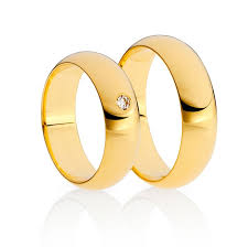 gold round rings images Niessing yellow gold half round flat wedding rings orro jpg