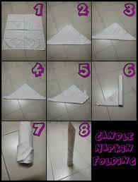 how to fold table napkins table napkin folding candle folding table design