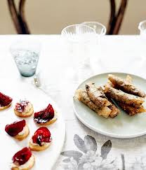 pate canapes crostini with smoked eel pâté and glacé beetroot recipe gourmet