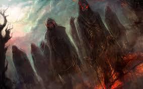 halloween background eyes dark horror evil fantasy art demons hell skeletons skulls eyes