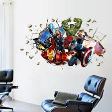 Wall Stickers Home Decor Aliexpress Buy Movie 3d Wall Stickers Home Decor The Avengers