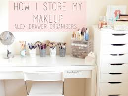 Makeup Desk Organizer Furniture Makeup Containers For Drawers Ikealex Makeup Desk