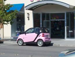 pink sparkly mercedes convertible barbie pink smart car out of place or just