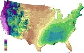 Rainfall Totals Map Average Annual Precipitation By Usa State Current Results Climate