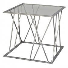 table bout de canap en verre design bout de canapé salomer gris verre un autre regard déco en ligne
