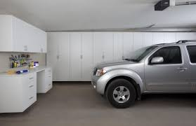 garage awesome garage design ideas with large gray cabinets table full size of garage large white wooden garage cabinets decorating complete table and drawers as well