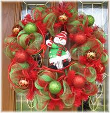christmas mesh wreaths snowman christmas deco mesh wreath for decoration