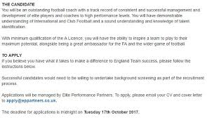 fa publicly advertise for england women u0027s manager role daily