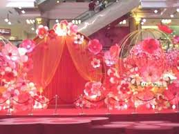 New Year Stage Decorations by Chinese New Year Decorations At 1 Utama Youtube
