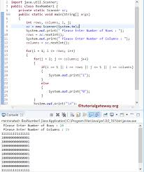 java pattern programs for class 10 java program to print box number pattern of 1 and 0