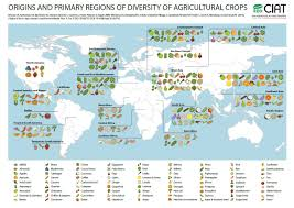Map Of Caribbean Islands And South America by Origin Of Crops Ciat Blog