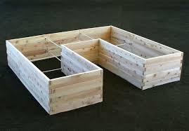 natural cedar u shaped raised garden bed eartheasy com