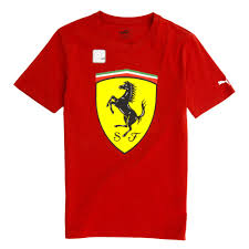 ferrari logo ferrari logo t shirt by puma brand red 762139 01
