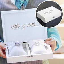 wedding photo box personalized ring bearer pillow keepsake box