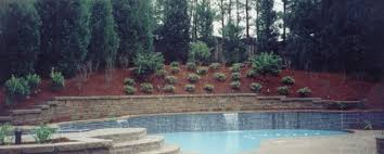 love this pool built into the hill outdoor pinterest