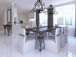 designer stühle esszimmer esszimmer mit esstisch und designer stühle stockfoto 128162340