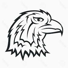 best free eagle head symbol tattoo design stock vector pictures
