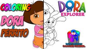 how to color dora and perrito nickelodeon u0027s dora the explorer