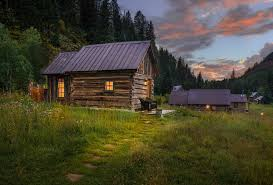 Small House Cabin Cabins Get Away Relieve Stress Forest Cabins Tiny House