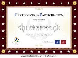 certificate participation template sport yellow theme imagem