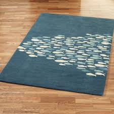 Fish Area Rug Schooled Fish Wool Area Rugs