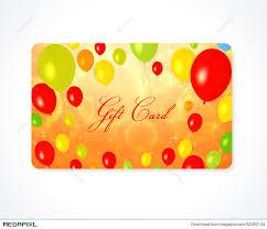 gift card discount gift card discount card business card balloon illustration